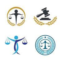 illustration d'images de logo de cabinet d'avocats vecteur
