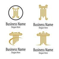 images de logo de pilier vecteur