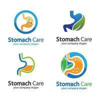 illustration d & # 39; images de logo d & # 39; estomac vecteur