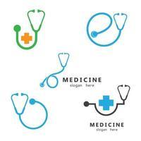 images de logo de soins médicaux vecteur