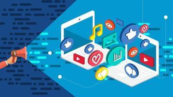 bannière marketing numérique vecteur
