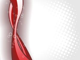Vague rouge brillant vecteur
