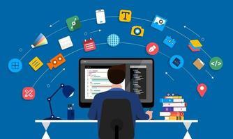 concepteur et programmeur web vecteur