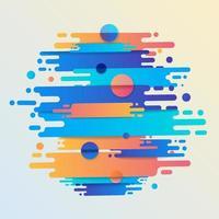 diverses lignes de formes arrondies colorées en rythme diagonal. illustration vectorielle de composition dynamique. élément géométrique graphique de mouvement. vecteur