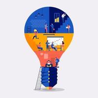 espace de travail créer une idée vecteur