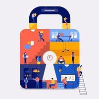 sécurité en ligne de l'espace de travail. vecteur