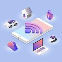 technologie de réseau sans fil vecteur