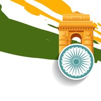 design élégant jour de l'indépendance indienne vecteur