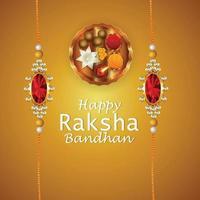 carte de voeux festival indien raksha bandhan vecteur