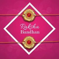 raksha bandhan réaliste avec rakhi créatif vecteur