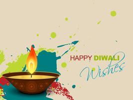 Diwali éclabousse vecteur