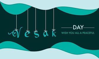 jour de vesak avec fond de texte suspendu vecteur
