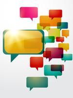 bulle de discussion colorée vecteur