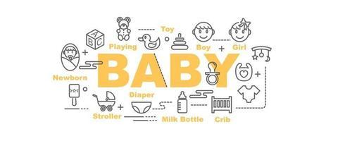 bannière de vecteur de bébé