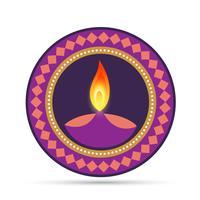 festival hindou diwali vecteur