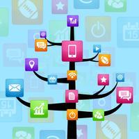 réseau de médias sociaux vecteur