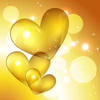 coeur d'or de vecteur