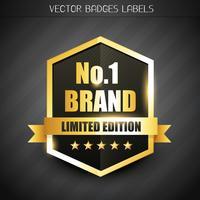 étiquette de marque originale vecteur