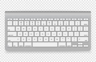 clavier sans fil moderne isolé vecteur