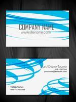 design de carte de visite attrayant vecteur