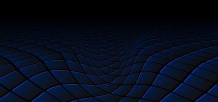 concept de technologie abstraite motif carré noir et bleu vague perspective fond et texture vecteur