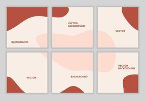 collection de jeu de modèle carré de puzzle abstrait minimaliste pour les flux de publication de médias sociaux. convient pour la promotion de réduction. bannière de vente, marketing numérique. illustration de forme de couleur de fond de vecteur