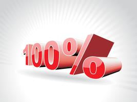 vecteur cent pour cent