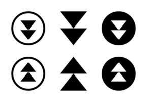 ensemble de conception de flèche haut et bas Vecteur gratuit