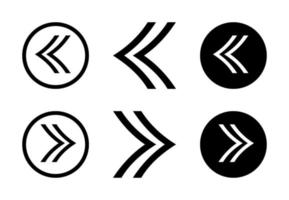 jeu de conception flèche droite et gauche Vecteur gratuit
