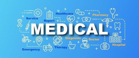 bannière tendance vecteur médical