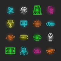 jeu d'icônes de football néon