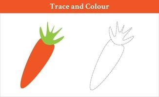 trace et couleur carotte vecteur gratuit