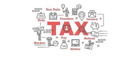 bannière de vecteur de taxe