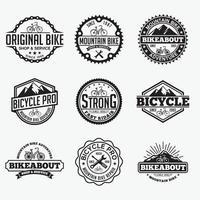 modèles de conception de logos de badges de vélo de sport vecteur