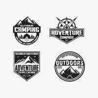 modèles de conception de logos de badges d & # 39; aventure vecteur