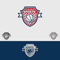 modèle de conception de vecteur de logo de basket-ball