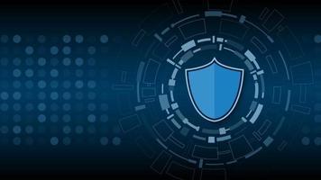 sécurité de la cyber technologie, conception de fond de protection réseau, illustration vectorielle vecteur