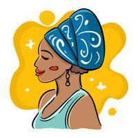 Belle illustration de femmes africaines vecteur