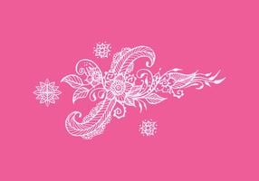 Henna Art Illustration vectorielle vecteur