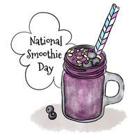 Illustration de la journée nationale Smoothie vecteur