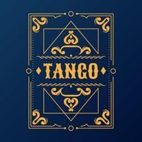 Vintage Label typographie affiche cadre Design rétro vecteur