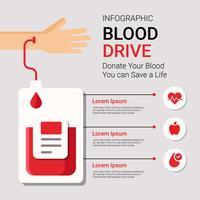 Vecteur infographique de Blood Drive
