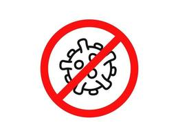 arrêter le signe du coronavirus. épidémie de coronavirus. arrêter le concept de vecteur pandémique