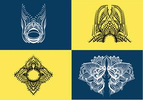 Pack de vecteur d'art au henné