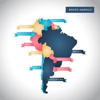 Carte de l'Amérique du Sud moderne