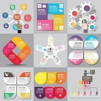 utilisation du modèle infographique pour bannière, brochure, site Web vecteur