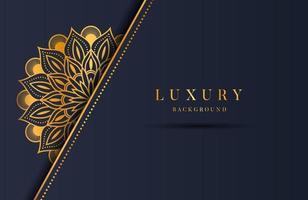 fond orné de luxe mandala or pour invitation de mariage, couverture de livre. fond islamique arabesque vecteur