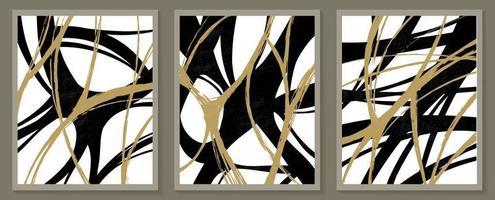 modèles contemporains avec des formes abstraites organiques et une ligne aux couleurs rétro. fond de boho pastel en illustration vectorielle de style minimaliste du milieu du siècle vecteur