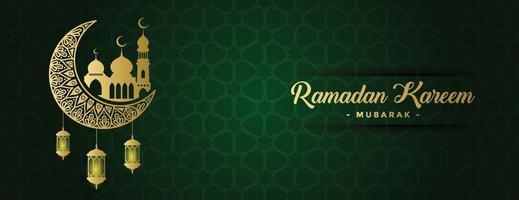 modèle de fond de bannière ramadan kareem vecteur