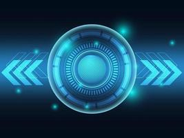 fond futuriste de technologie bleue vecteur